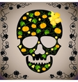cheerful background with a skull vector image vector image