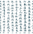 chinese traditional calligraphy seamless pattern vector image vector image
