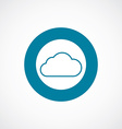 cloud icon bold blue circle border vector image vector image