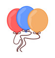 colorful party balloon vector image