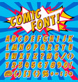 comic font cartoon alphabet letters in pop vector image