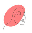 continuous line abstract face contemporary female vector image vector image