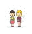 Cute pupils students vector image vector image