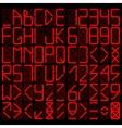 Digital alphabet vector image vector image