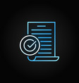 document with checkmark creative line icon vector image vector image