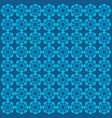 flower blue pattern ornament vector image vector image