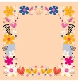 flowers border frame vector image vector image