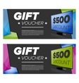 Gift Voucher Or Card vector image vector image