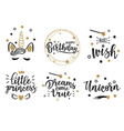 gold greeting set vector image vector image