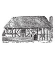gothic architecture alfriston clergy house in vector image vector image