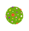Grass Ball With Colourful Flowers vector image vector image
