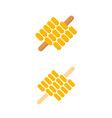 grilled or roasted corn on a skewer or cob concept vector image vector image