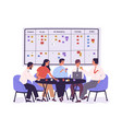 group of people or office workers sitting around vector image vector image