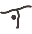 Gymnastics Rhythmic icon vector image vector image