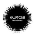 halftone circle design element black vector image