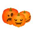 halloween pumpkins icon isometric style vector image vector image