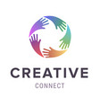 hands logo abstract logo design concept vector image vector image