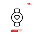 heart rate watch icon vector image
