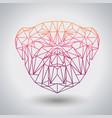 hipster polygonal animal bulldog triangle animal vector image vector image