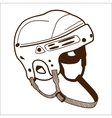 Hockey helmet isolated on white vector image vector image
