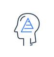 human head profile and pyramid need vector image vector image