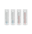 indoor home office thermometer hot and vector image