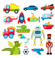kids toys cartoon games helicopter or ship vector image