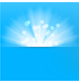 Light burst blue background vector image vector image