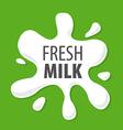 logo splashes of natural milk vector image vector image