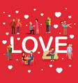 loving couples people men and women girls vector image vector image