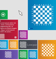 Modern Chess board icon sign buttons Modern vector image vector image