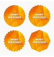 Most watched sign icon Most viewed symbol vector image vector image