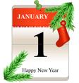 NY calendar vector image vector image