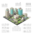 Office Buildings Isometric Infographics vector image vector image