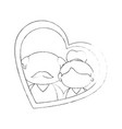 old couple in love vector image vector image