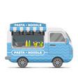pasta and noodle street food caravan trailer vector image