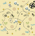 pirate map seamless repeat vector image