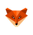polygon fox icon vector image vector image