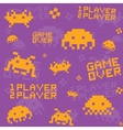 Purple invaders pattern vector image