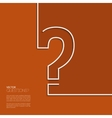 question mark icon in flat design vector image vector image