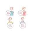 recruitment group and messenger icons internet vector image