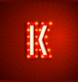 retro style letter k vector image