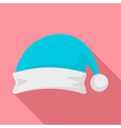 santa hat icon flat style vector image vector image