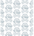 seamless pattern made of cartoon small city cars vector image