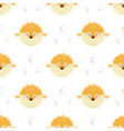 seamless pattern with cartoon blowfishes vector image