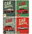 Set of car rental old style flyers vector image vector image