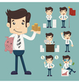 Set of office worker eps10 format vector image vector image