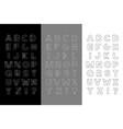 set three trendy english alphabets vector image