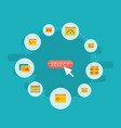 set wd icons flat style symbols with website vector image vector image
