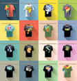Shirt collection set with colored logo with triang vector image